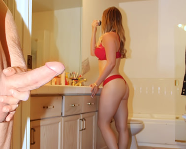 Chrissy Saunders in Check my step-sister out, bro!! LOL! - Exxxtra Small