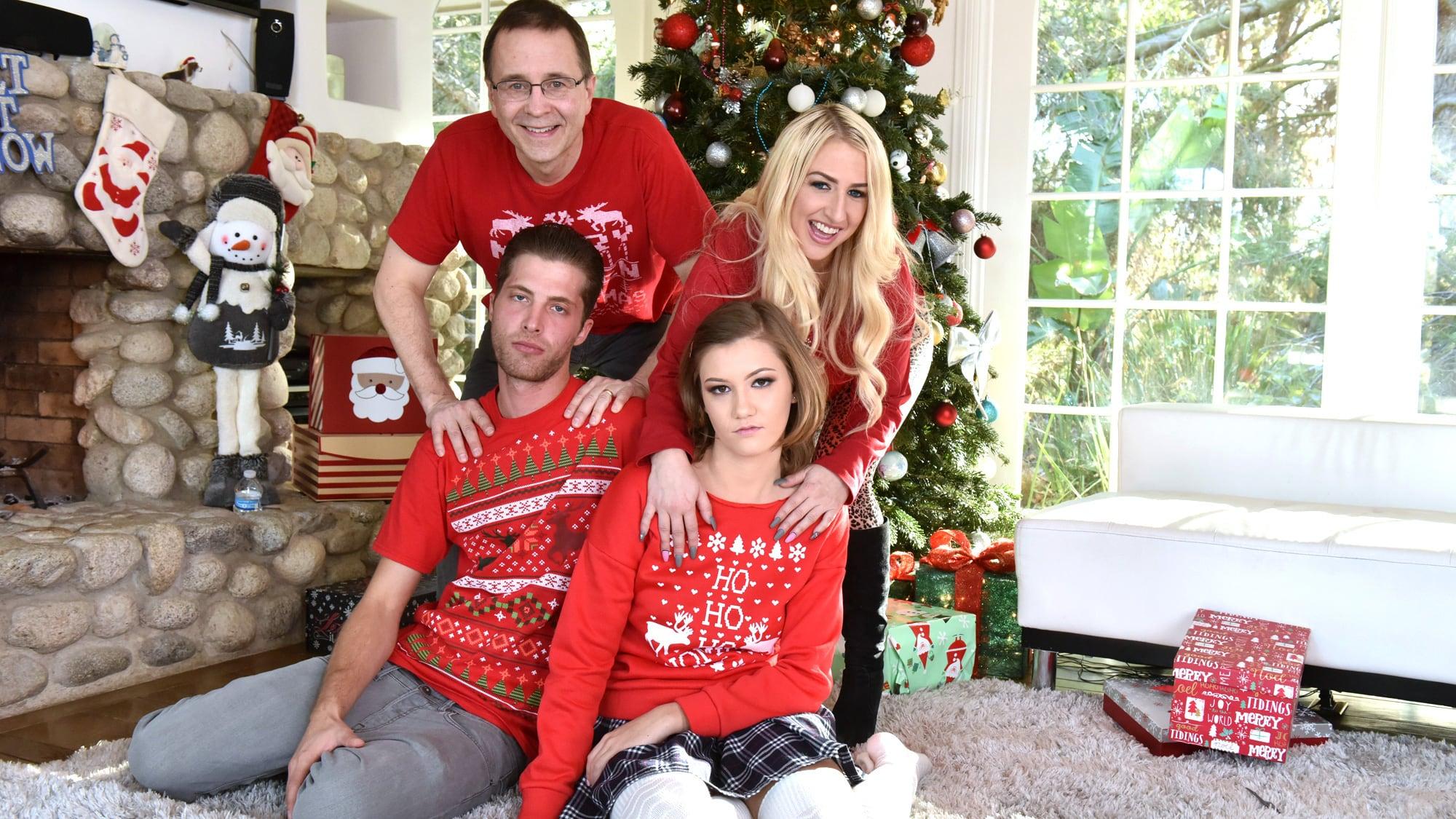 Family strokes christmas