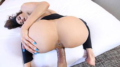 Abby Lee Brazil latina stepmom inspects step sons balls and fucks him