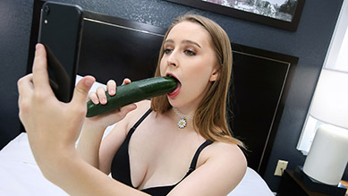Laney Grey sucks and fucks her creeper stepbrother