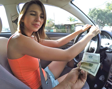Cece Capella in Personal driver is seduced by the almighty dollar - Teens Love Money