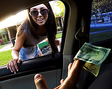 London Lynn in Brunette teen will do anything for cash - Teens Love Money