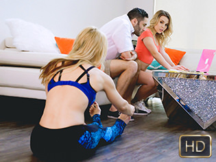 Aubrey Sinclair and Sarah Vandella in Be A DIck To Get The Pussy - Badmilfs | Team Skeet