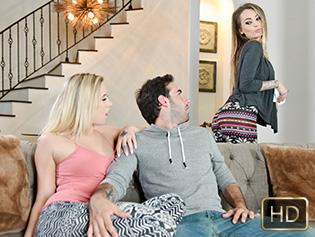 Bailey Brooke and Natasha Starr in Stop Looking At Stepmoms Ass! - Badmilfs | Team Skeet