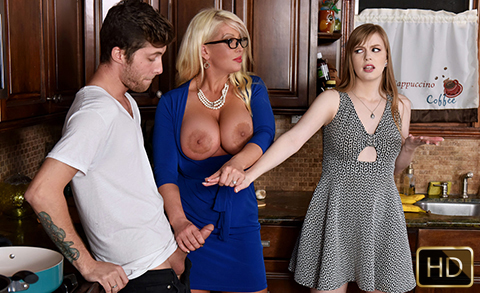 Dolly Leigh and Alura Jensen in My Step Daughters Boyfriend | Team Skeet