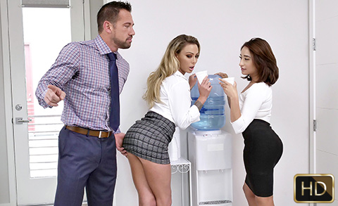 Isabella Nice and Isabelle Deltore in Head Gets You Ahead | Team Skeet