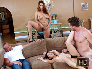 Miss Raquel and Penelope Reed in Share With Your Mommy - Badmilfs | Team Skeet