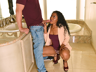 Mya Mays and Yasmine De Leon in Mothers Interracial Interaction - Badmilfs | Team Skeet