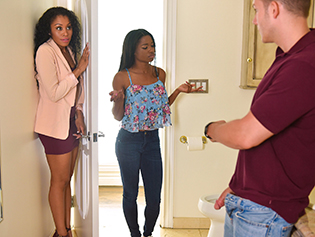 Mya Mays and Yasmine De Leon in Mothers Interracial Interaction - Badmilfs | Team Skeet