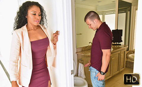 Mya Mays and Yasmine De Leon in Mothers Interracial Interaction | Team Skeet