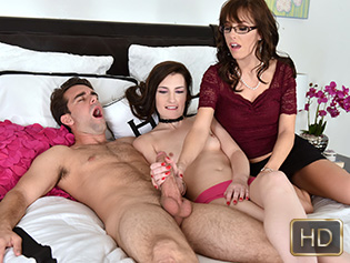 Nina Nirvana and Alana Cruise in Lewd Mother Daughter Photoshoot - Badmilfs | Team Skeet