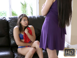 Mercedes Carrera and Sara Luvv in Caught Camming On The Job - My Babysitters Club | Team Skeet