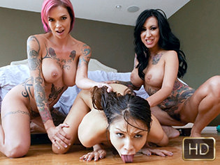 Anna Bell Peaks Lily Lane and Sami Parker in After School Punishment - Dyked | Team Skeet