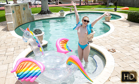 Amber Addis in Tiny Cum In The Sun | Team Skeet