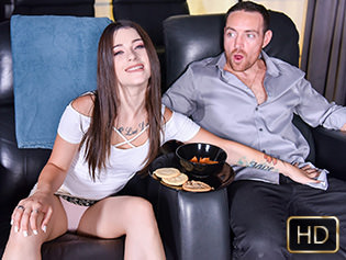 Lacey Channing in Mini Movie Watcher Gets Fucked - Exxxtra Small   Team Skeet