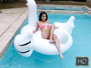 Maya Bijou in Petite Pool Day - Exxxtra Small   Team Skeet