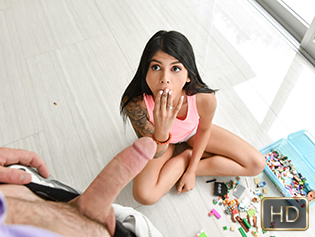 Sadie Pop in Childish Babe Building Cox - Exxxtra Small | Team Skeet