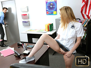 Alexia Gold in Drilled On The Desk - Innocent High | Team Skeet