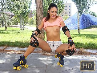 Carolina Abril in Rollerblading Latina Gets Drilled - Oye Loca | Team Skeet