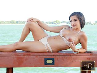Annika Eve in Poolside Breast Stroke - Titty Attack | Team Skeet