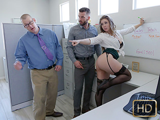 Lena Paul in The Porn Office - Titty Attack | Team Skeet