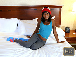 Karma May in First Timer Gets Pounded - Teeny Black | Team Skeet