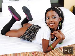 Nevaeh in Ebony Schoolgirl Gets Railed Afterschool - Teeny Black | Team Skeet