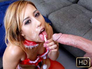 Demi Lopez in Candy Cane Challenge - Teen Curves | Team Skeet