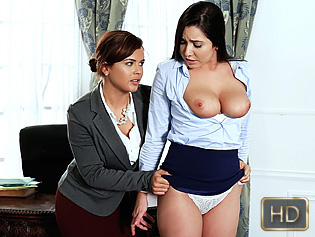Keisha and Karlee in Submissive Secretary - Teen Curves | Team Skeet