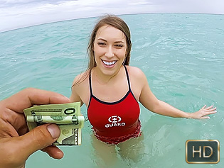 Kimber Lee in Lifeguard On Dick Duty - Teens Love Money | Team Skeet