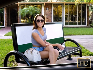 London Lynn in Bus Stop Babe Gets Laid and Paid - Teens Love Money | Team Skeet