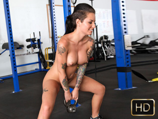 Christy Mack in Self defense seduction - The Real Workout | Team Skeet