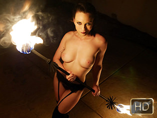Jade Nile in Smoking Hot Fire Spinner Gets A Blazing Dickdown - The Real Workout | Team Skeet