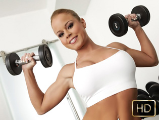 Nikki Delano in Tight Body Hottie - The Real Workout | Team Skeet