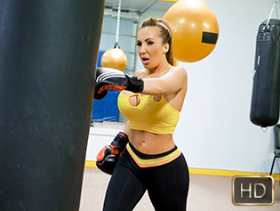 Ricelle Ryan in Busty Babe Goes Boxing - The Real Workout | Team Skeet