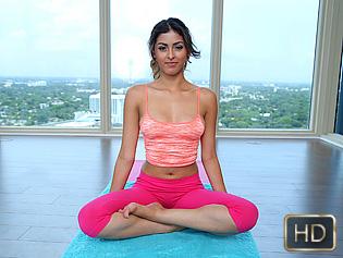 Sophia Leone in 18yr Old Yoga Practice - The Real Workout   Team Skeet